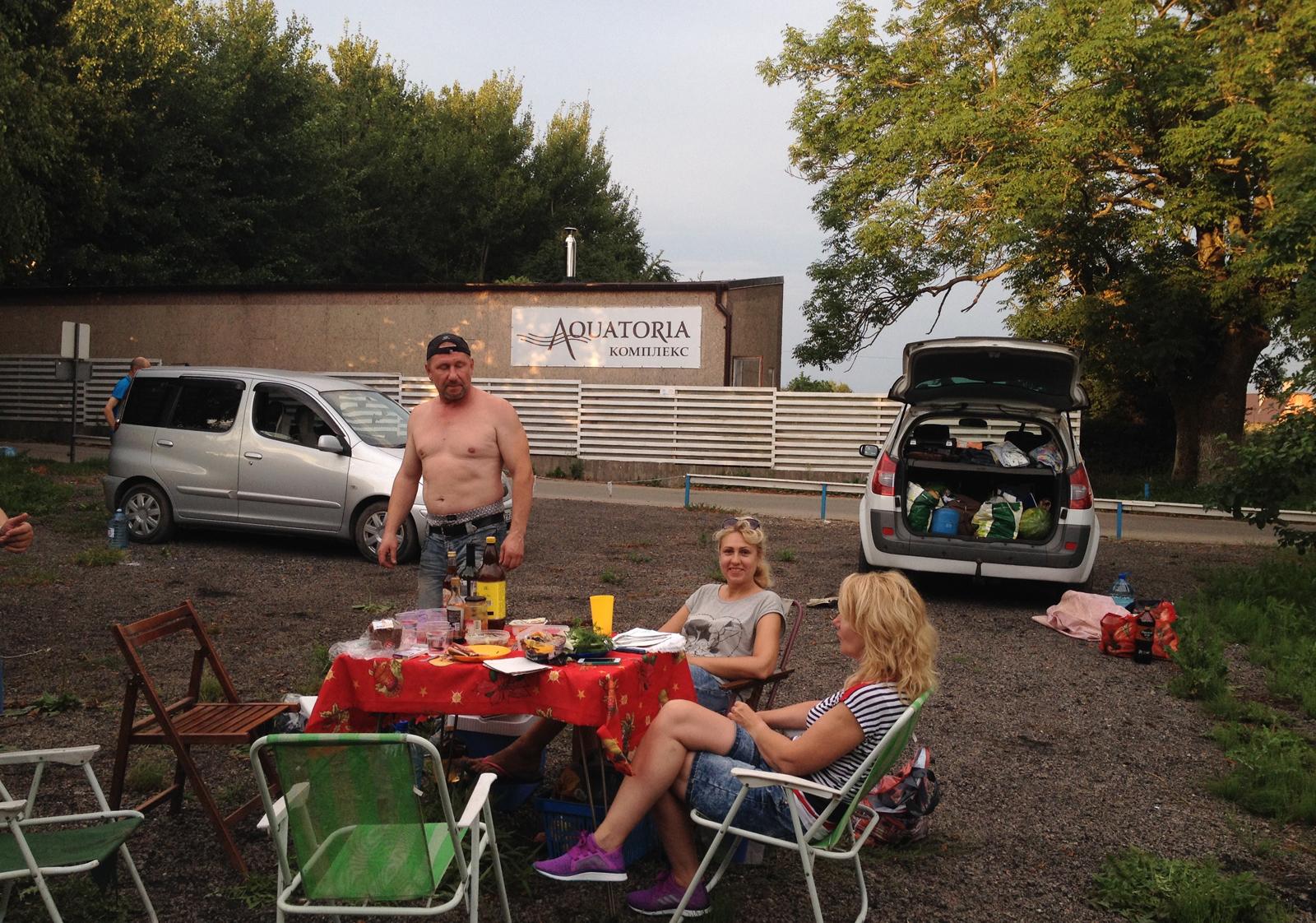 кемпиег Акватория, Aquatoria camping, caravan, трейлер, палатка